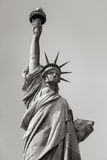 Black and white view of Statue of Liberty, New York City Stock Photo