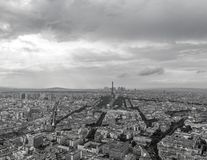 Black and White view of the top of Paris Stock Photos