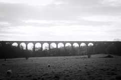 Black and white view of yorkshire countryside Royalty Free Stock Photography