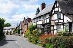 Black and white village, Pembridge. Stock Photos