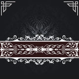 Black and white vintage background. royalty free stock images