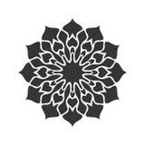 Black and white Vintage Beautiful Decor Mandala stock photo