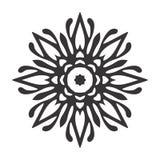 Black and white Vintage Beautiful Decor Mandala stock images