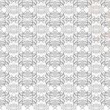 Black and white vintage calligraphy swirl repeat pattern. Black and white vintage calligraphy swirl flourish repeat pattern stock image
