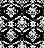 Black and white vintage damask pattern Stock Photo