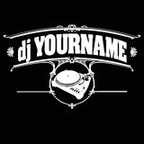 Black And White Vintage DJ Label Royalty Free Stock Photography