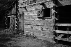 Black & white vintage farm or ranch Royalty Free Stock Photos
