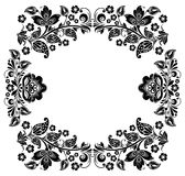 Black and white vintage frame Stock Photography