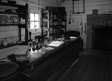 Black & white vintage general store Stock Images