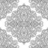 Black and white vintage ornamental seamless pattern. Paisley elements. Ornament. Traditional, Ethnic, Turkish, Indian motifs. Great for fabric and textile Stock Images
