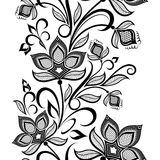 Black and white vintage pattern. Royalty Free Stock Photos