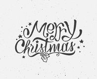 Black and white vintage poster for Christmas Royalty Free Stock Photo