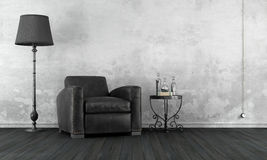 Black and white vintage room Royalty Free Stock Photo