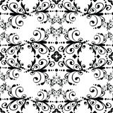 Black & white vintage seamless pattern. Vector seamless floral pattern illustration Royalty Free Stock Images