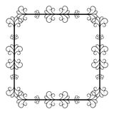 Black and white vintage square frame on white background Royalty Free Stock Photos