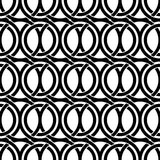 Black and white vintage style ornate mesh seamless pattern. Royalty Free Stock Photos