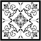 Black white vintage tile royalty free stock photography