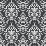 Black and white vintage wallpaper pattern. Stock Photos