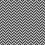 Black and white vintage zig zag seamless pattern Stock Photography