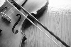 Black and white violin Royalty Free Stock Photography