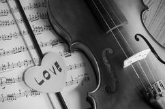 Black and white violin Stock Photo