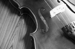 Black and white violin Stock Photos