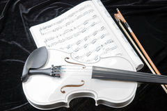 Black and white violin with music notes Royalty Free Stock Photos