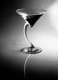 Black and White Vodka Gin Martini, appletini, or Cocktail. A refreshing AND unique martini style cocktail. This is a high contrast black and white image Stock Images