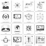 Black And White VR Icons Stock Photo
