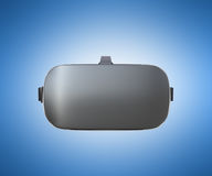 Black and White VR Virtual Reality Headset front Isolated on blu. E Background 3D Illustration vector illustration