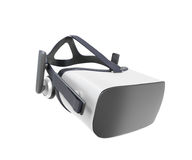 Black and White VR Virtual Reality Headset Isolated on White Background 3D Illustration stock illustration