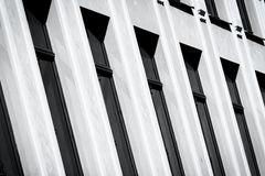 Black and white wall with windows Royalty Free Stock Image