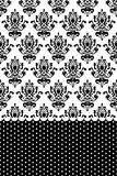 Black and white wallpaper Royalty Free Stock Photography