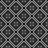 Black-and-white wallpaper pattern Stock Image