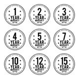Black White Warranty Badges Stock Images