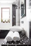 Black and white washroom Stock Photo