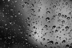 Black and white water drops in a cave Royalty Free Stock Photo
