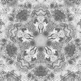 Black and white watercolor mandala. Oriental vintage round pattern. Hand drawn abstract background. Mystic ottoman motif Stock Image