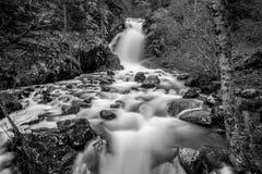 Waterfall in Arinsal, Andorra stock photo