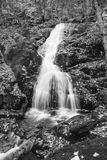 Black-and-White Waterfall Stock Photography