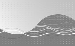 Black and White Wave Background Royalty Free Stock Photography