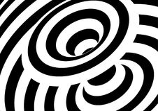 Black and white wave lines background. Abstract optical illusion. Backdrop. Op art vector illustration royalty free illustration