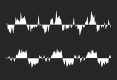Black and white waveform Stock Image