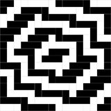 Black and white weave pattern background vector. Rectangle and square pattern background, geometric pattern background Stock Image