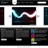 Black and white website template Stock Photography