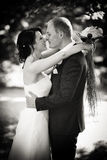 Black and white after wedding - newlywed Stock Photos