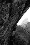 Black & White Weeping Rock Royalty Free Stock Photos