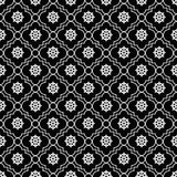 Black and White Wheel of Dharma Symbol Tile Pattern Repeat Backg Stock Photo