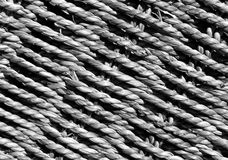 Black and white Wicker basket braided texture. Stock Photo