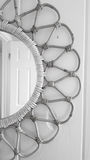 Black and White Wicker Mirror Royalty Free Stock Photo